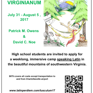A flyer for Tusculum Virginianum